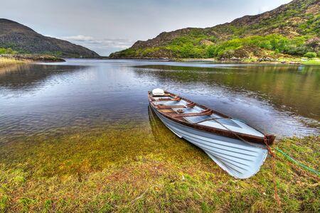 co  kerry: Boat at Killarney lake in Co. Kerry, Ireland