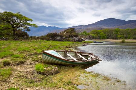 co  kerry: Boats at Killarney lake in Co. Kerry, Ireland