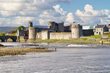 King John Castle in Limerick, Ireland Stock Photo