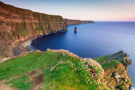 Cliffs of Moher at sunset in Co. Clare, Ireland Archivio Fotografico