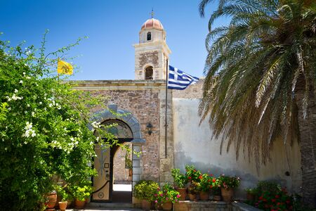 15th century: 15th century monastery Moni Toplou on Crete, Greece Stock Photo