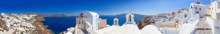 greek islands: Panorama of Oia town on Santorini island, Greece