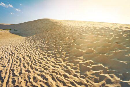 shifting: Shifting dunes at sunset in Leba, Poland