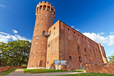teutonic: Medieval Teutonic castle in Swiecie, Poland Editorial