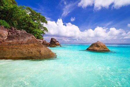 similan: Tropical beach scenery of Similan islands in Thailand