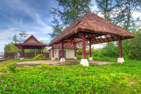 koh kho khao: Tropical hut at the beach in Thailand