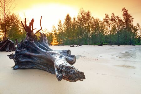 koh kho khao: Amazing sunrise on the beach of Koh Kho Khao, Thailand Stock Photo