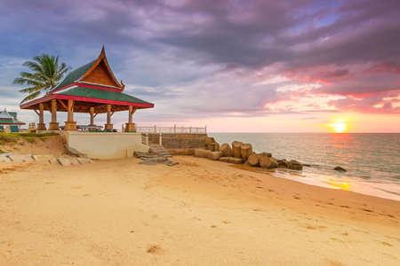 koh kho khao: Amazing sunset on the beach of Koh Kho Khao island in Thailand Stock Photo