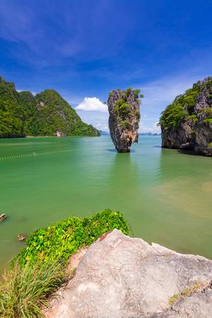 ko: Ko Tapu rock on  Island, Phang Nga Bay in Thailand
