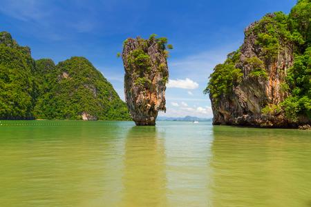 thailand beach: Ko Tapu rock on Island, Phang Nga Bay in Thailand