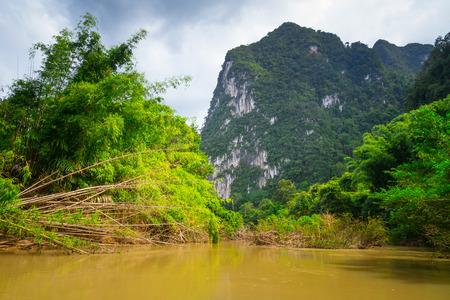 sok: River in Khao Sok National Park, Thailand Stock Photo