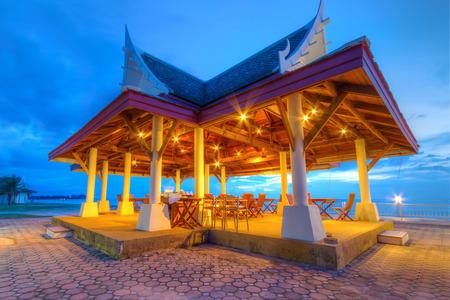 koh kho khao: Oriental open air restaurant at the sea at Andaman Princess Resort & Spa