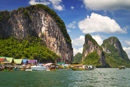 panyi: Koh Panyee fisherman village on the waters of Phang Nga Bay, Thailand