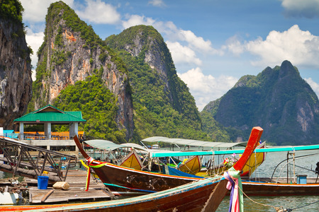 Koh Panyee fisherman village on the waters of Phang Nga Bay, Thailand