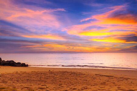 koh kho khao: Amazing sunset over Andaman Sea in Thailand Stock Photo