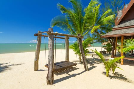 koh kho khao: Beautiful tropical beach with coconut palm tree in Thailand