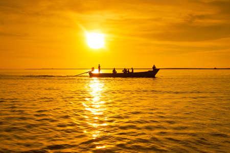 koh kho khao: Andaman Sea at sunset in Thailand Stock Photo