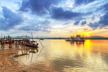 koh kho khao: Sunrise at the river in Koh Kho Khao island, Thailand