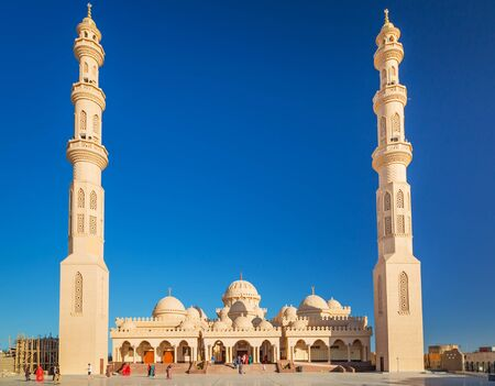hurghada: Beautiful architecture of Mosque in Hurghada, Egypt