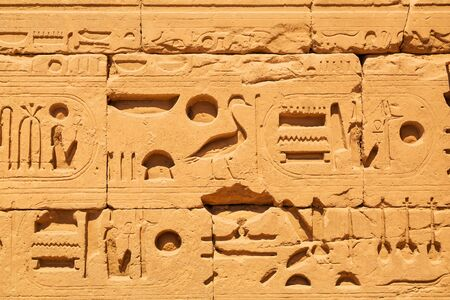 past civilizations: Hieroglyphic of pharaoh civilization in Karnak temple, Egypt