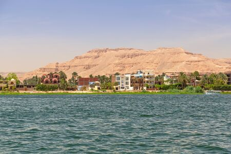 Luxor city at the Nile river, Egypt Stock Photo