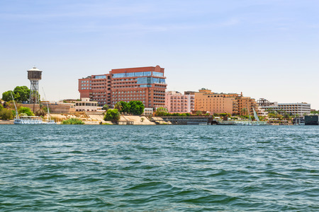 nile river: Luxor city at the Nile river, Egypt Stock Photo