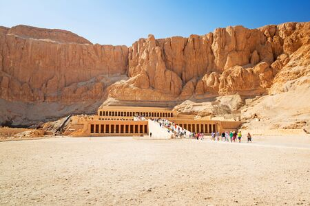 thebes: The Mortuary Temple of Queen Hatshepsut located near the Valley of the Kings in Egypt