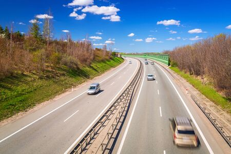 bypass: Highway bypass near Gdansk in Poland Stock Photo