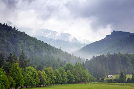 giewont: Tatra mountains on a cloudy day in Zakopane, Poland