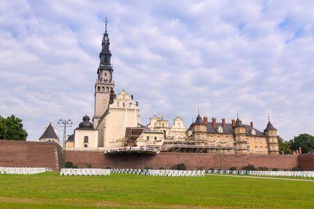gora: Architecture of Jasna Gora monastery in Czestochowa