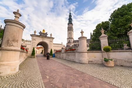 czestochowa: Jasna Gora monastery in Czestochowa city, Poland Stock Photo
