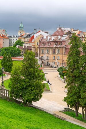 lublin: Beautiful architecture of the old town in Lublin, Poland Stock Photo