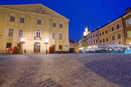 lublin: Old town of Lublin at night, Poland