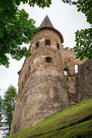 gothic castle: Gothic castle Stara Lubovna in Slovakia Editorial