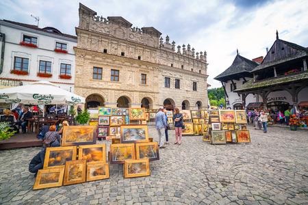 kazimierz dolny: People walking in the old town of Kazimierz Dolny at Vistula river Editorial