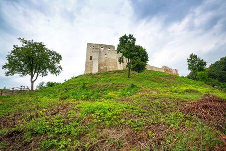 kazimierz dolny: Ruins of the castle in Kazimierz Dolny at Vistula river, Poland Editorial