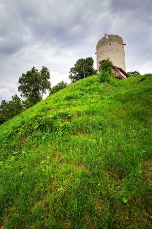 kazimierz dolny: Tower of the castle in Kazimierz Dolny at Vistula river, Poland Editorial