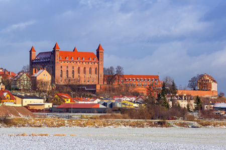 teutonic: Teutonic castle in Gniew town at Wierzyca river, Poland
