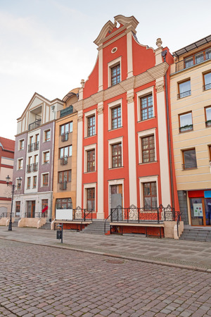riverside county: Architecture of old town in Elblag, Poland