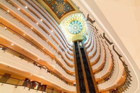 elevators: Lobby and elevators of Khalidiya Palace hotel