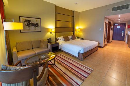 luxury bedroom: Luxury bedroom of Khalidiya Palace hotel Editorial