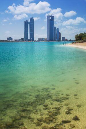 dhabi: Cityscape of Abu Dhabi Stock Photo