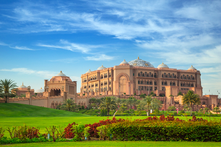 Emirates Palace and gardens in Abu Dhabi