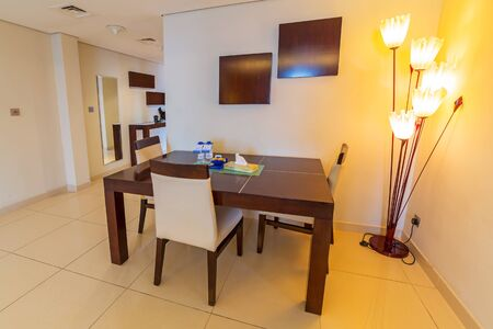 luxury hotel room: Luxury living room of The Grand Midwest Tower Hotel in Dubai Editorial