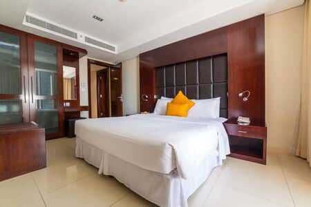 midwest: Luxury bedroom of The Grand Midwest Tower Hotel in Dubai