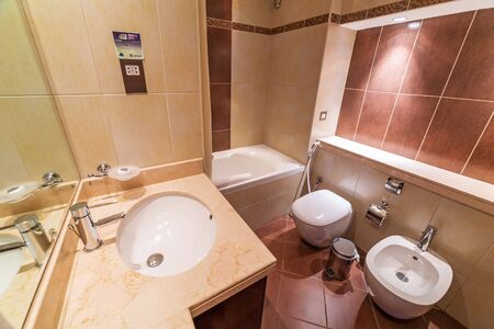 midwest: Luxury bathroom of The Grand Midwest Tower Hotel in Dubai