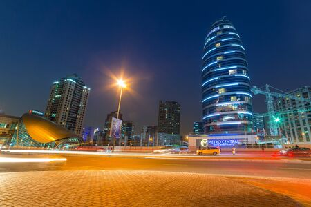 architectural firm: Hotels of Dubai Internet City at dusk, UAE