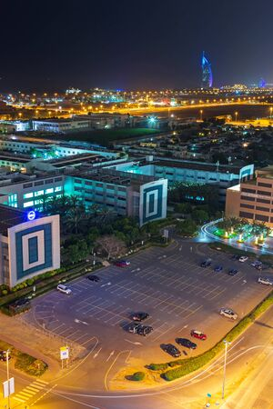 architectural firm: Technology park of Dubai Internet City at dusk