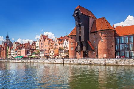 The medieval port crane over Motlawa river Editoriali