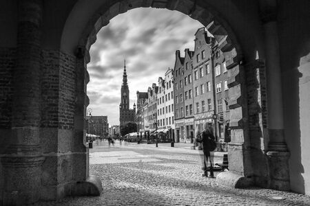The Green Gate view for city hall in Gdansk Editorial
